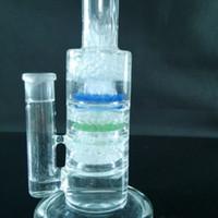 Perc bong fritté design design verre coloré triple percolateur fritté avec incroyable pile à bulles deux fonctions un menu déroulant 18mm