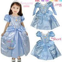 DHL Newest Cinderella Puff long   short sleeve Dress Costume...