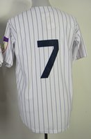 2015 Yankees #7 Mantle Stitched White Throwback Jersey, disco...