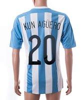 Customized Argentina home #20 kun Aguero soccer jerseys, Copa...