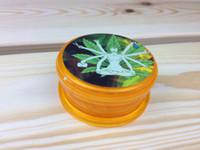 Moulin à herbes lot Mini plastique CNC Grinder pour fumer accessoives 2parts Rasta Bob nouvelles conceptions