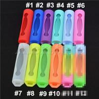 boîte de protection en silicone protège AW protection Safe Silicon cas colorés pour batterie sony vtc3 vtc4 vtc5 LG HE4 PANASON 18650 bateries ecig