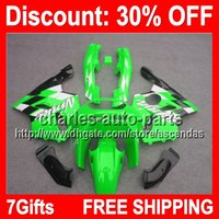 7gifts Green Black Full Fairing Kit For KAWASAKI NINJA ZX- 6R...