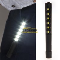 Portable 6 LED Lighting 5050SMD Work Light with Clip Blue Re...