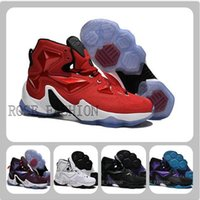 Wholesale LeBron 13 HOME Basketball Shoes University Red Whi...
