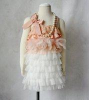 baby girl kids lace dress flower floral tutu dress cake dres...