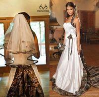 2016 Fashion Design Country Style Camo Wedding Dresses Halte...