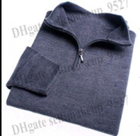 High quality New Zipper sweater Cashmere polo Sweater Jumper...