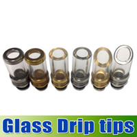 Glass Drip tips Pyrex Glass Stainless Steel Drip tip Mouthpi...