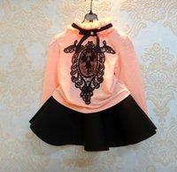 Girls T- Shirts Autumn Children Kids Clothes Cotton Crochet L...