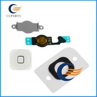 Pour iphone 5 iPhone 5C bouton Home Support Bracket Flex Key Cable de remplacement Ruban Pièces Câble Noir Blanc