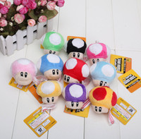 "2. 5"" Super Mario Bros Mushroom With Key Chain Plush Dol..."