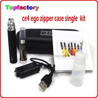 Kits eGo CE4 atomizador CE4 cigarrillos 1100mah 900mah 650mah batería ego cigarrillo electrónico e kits ego cremallera Carry Case envío libre de DHL