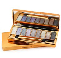 9 Colors Gold Diamond Bright Eyeshadow Makeup Palette Naked ...