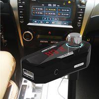 De los Estados Unidos! Transmisor FM FM25 New Car Audio del coche de 3.5mm Bluetooth 4.0 móviles con manos libres cargador USB para los teléfonos MP3