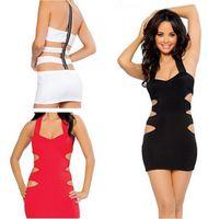 2015 new!!! black white red Sleeveless backless slim dress f...