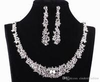 2015 Twinkle Plated crystal wedding bridal jewelry sets rhin...