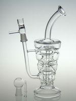 Bong en verre Date huile Hitman verre Sundae pile verre truque conduites d'eau en verre épais et robuste avec 14.5mm joint mâle