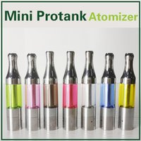 Mini atomiseur protang 510 bobines doubles ecigarette reconstruit 2.0ml réservoir en verre mini protank clearomizer ego atomiseur match evod batterie ecigs