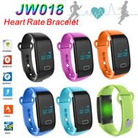 Inteligente banda Heart Rate Pulseira JW018 Bluetooth Smartband Sports relógio de pulso pedômetro sono Monitor de chamada de lembrete relógio de pulso Rastreador TW64