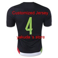Mexico 2015- 16 #4 R. MARQUEZ Black Home Soccer Jersey Tops, C...