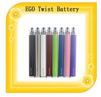 Ego c giro del cigarrillo 650mAh 900mAh batería de 1100 mAh de la batería electrónica de voltaje variable kit ego 3.3 ~ 4.8 de la batería ajustable