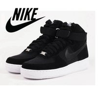 2016 Nike Air Force 1 One High 07 Premium Gym Red White Men ...