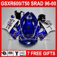 NEW Blue white For SUZUKI GSX R750 R600 SRAD GSXR 750 600 19...