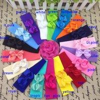 5*17cm Stretchy nylon headband with 3inch ribbon bows, Nylon ...