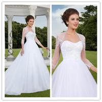 2015 Wedding Dresses with Bolero Wedding Dress with 3 4 Long...