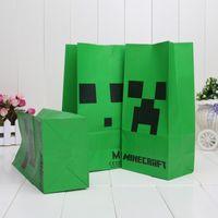 Free shipping Minecraft Popcorn bag Creeper Minecraft party ...