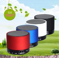 2016 NOUVEAU S10 mini haut-parleurs stéréo sans fil Bluetooth Haut-parleurs stéréo portable stéréo TF fonction d'appel de la carte Pas de logo dans la boîte de détail