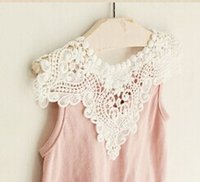 baby girl kids lace shirt tanks pettiskirt tutu tank tops si...