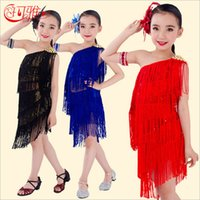 Children' s Stage Wear Girls Latin Costume Salsa Ballroo...