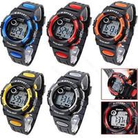 New Kids наручные часы Дети Цифровые часы Многофункциональный электронный Водонепроницаемый Студенческие спортивные часы Будильник Часы ручной Ветер