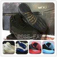 Wholesale RETRO 12 XII THE MASTER BLACK GOLD Basketball Shoe...