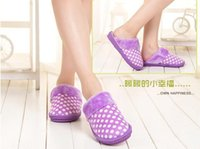 5 colors Catton slippers, Dot plush home couples slippers , Th...