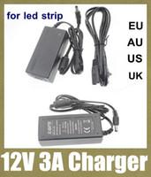 ac / dc adaptateur d'alimentation du chargeur d'alimentation de l'adaptateur femelle mâle prise électrique adaptateur DC 12V 3A / AC 110-240V pour bande LED rgb 5050 DY002