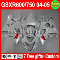 7gifts For SUZUKI Pearl White GSXR600 750 K4 04- 05 GSXR600 7...