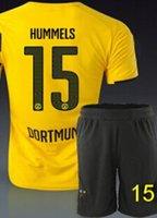 Borussia dortmund 14 - 15 home yellow soccer jerseys short un...