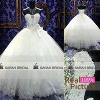 2015 Luxury Ball Gown Wedding Dresses Sheer Sweetheart Neckl...