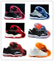 Bred Basketball Shoes Bred Retro XI LOW BLACK RED Mens Sneak...