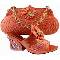 African Fashion Shoes and Matching Bags set for women dresse...