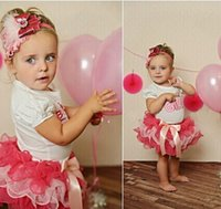 baby girl infant toddler 2pc set princess outfits Birthday g...