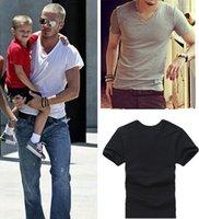 Hot Fashion Men' s V- Neck T- shirt Soda Cotton Casual Sho...