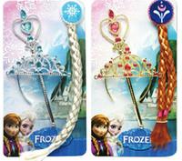 Frozen Elsa Anna Headwears Crown Wig Magic Wand 3 in 1 Glitz...