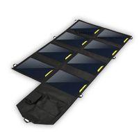 32W Портативный Fold Солнечное зарядное Выход USB 5V 6400mAh 18-20V для IPhone / IPad / Samsung мобильника / Digital / MP3 / 4 GPS / POWERBANK / Любая 5V Прибор