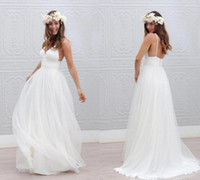 2016 Cheap Summer Bohemian Beach Wedding Dresses New Sexy Pu...