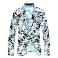 Wholesale- Free shipping 2015 Spring Mens fashion blazer slim...