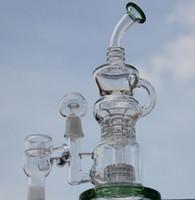 Date Klein Recycler vapeur rig bong bong scientifique 11 pouces pipe à eau en verre Pulse bong verre BIO dabrigs verre waterpipe baril incycler